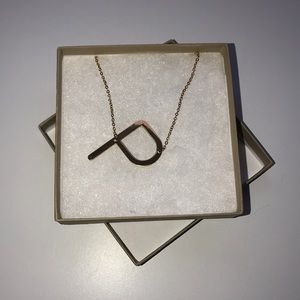 Gold P Necklace